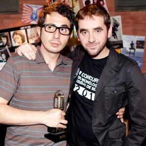 Con Berto Romero