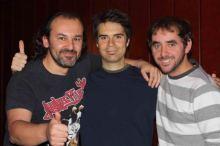 Junto a los cómicos David César y Álvar Carmona