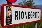 Cartel en Rionegrito